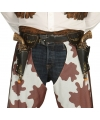 Wild West cowboy holsters met pistolen